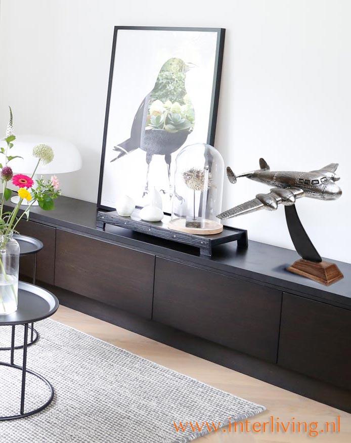dressoir-tafel-styling-chroom-vintage-vliegtuig-decoratie-huis-accessoire-woondecoratie