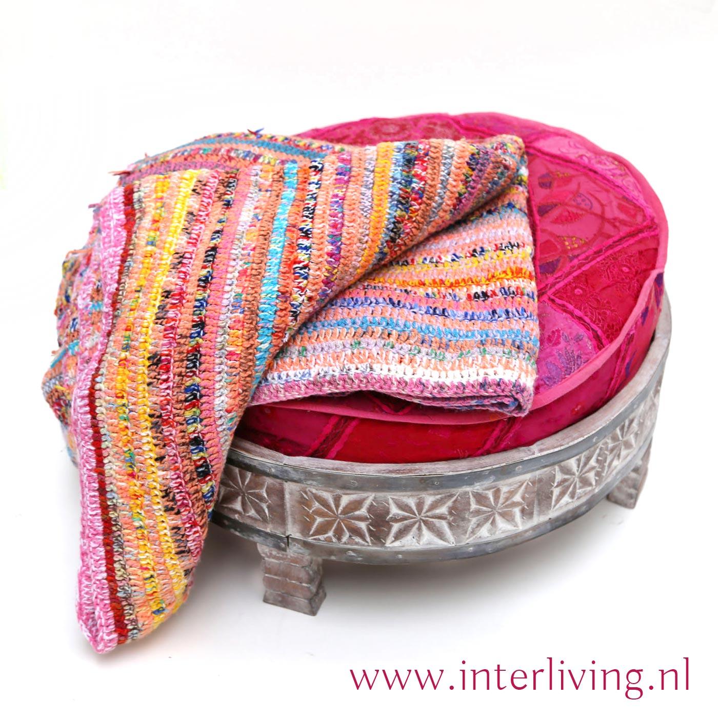 unieke deken vintage breiwerk handgemaakt