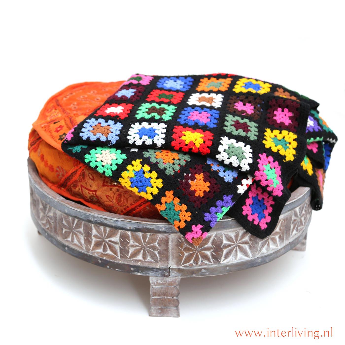 unieke deken vintage haakwerk handgemaakt