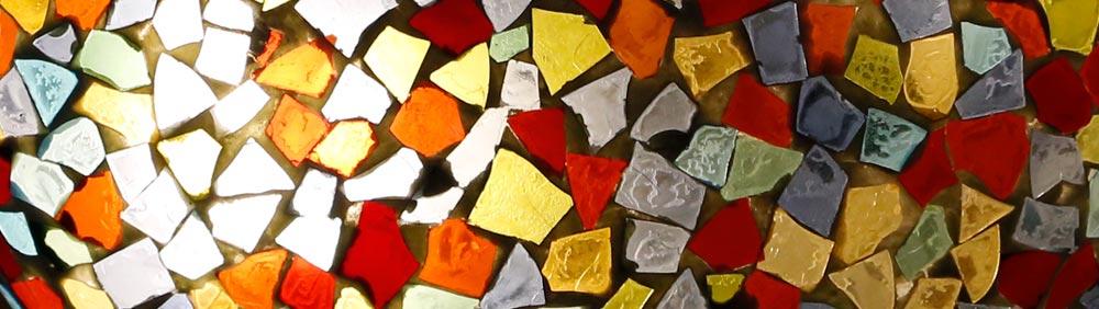 gebroken glasmozaiek