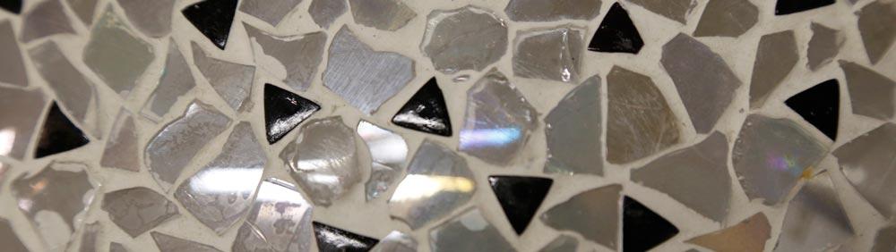 mozaieklamp met parelmoer glans