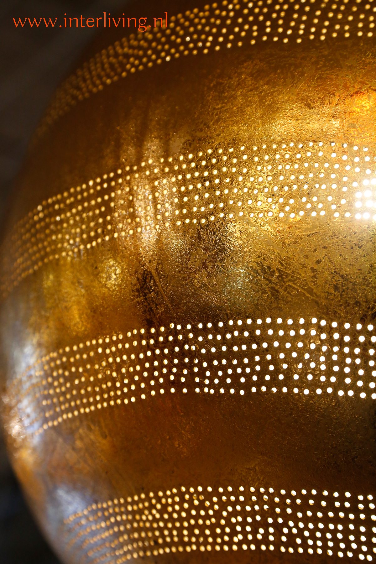 Ibiza stijl basic boho gouden bol hanglamp vintage goud