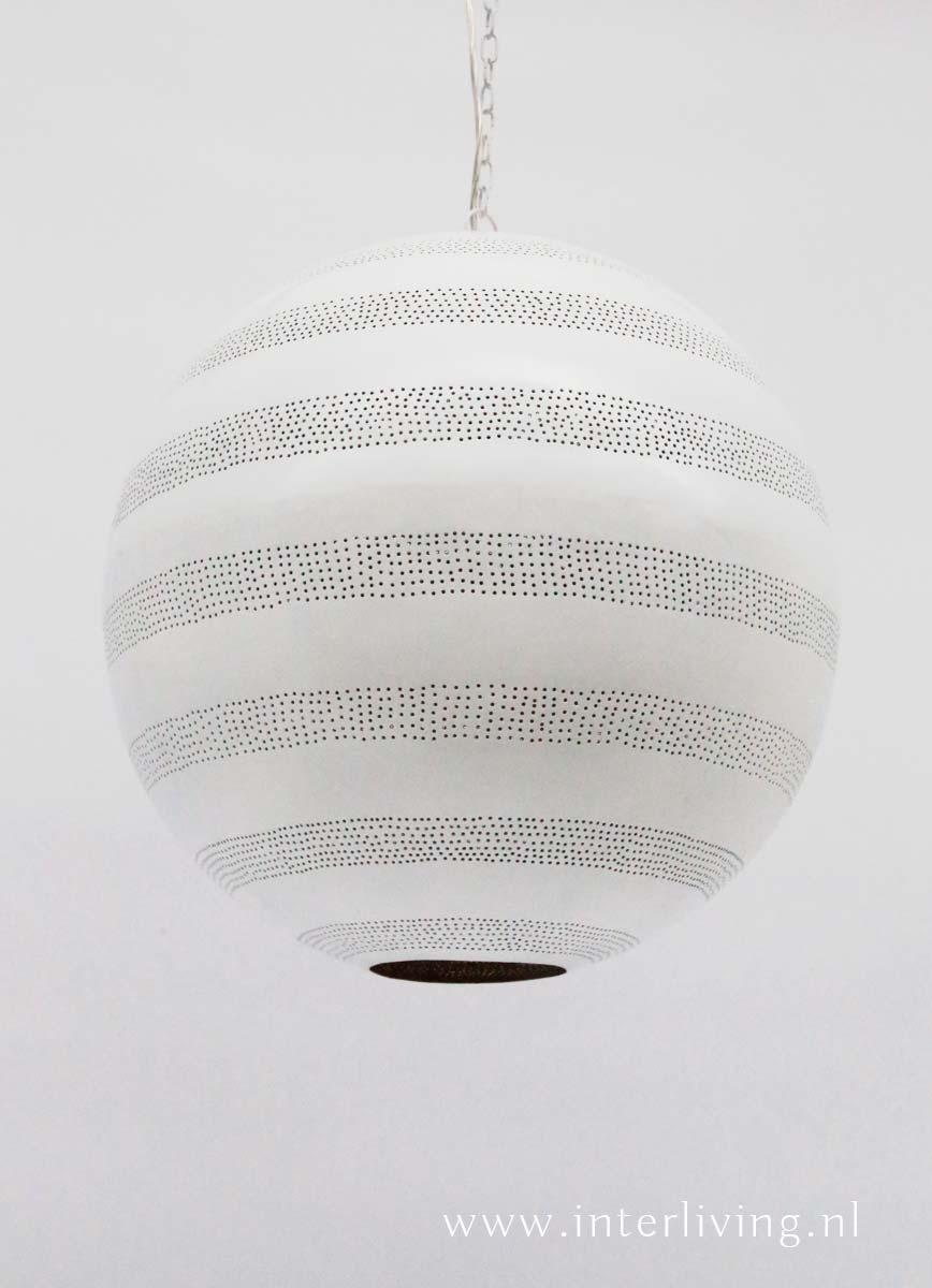 witte gaatjeslamp - grote bol