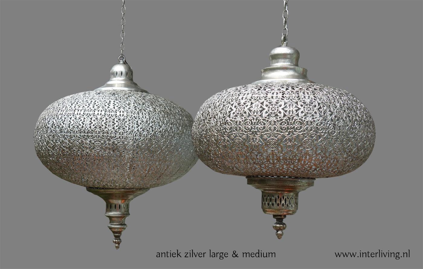 oosterse lantaarn antiek zilver