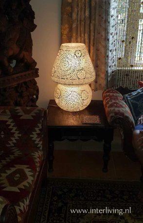 grote tafellamp turks glasmozaiek