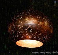 oosterse hanglamp koper - kleine druppel of pompoen