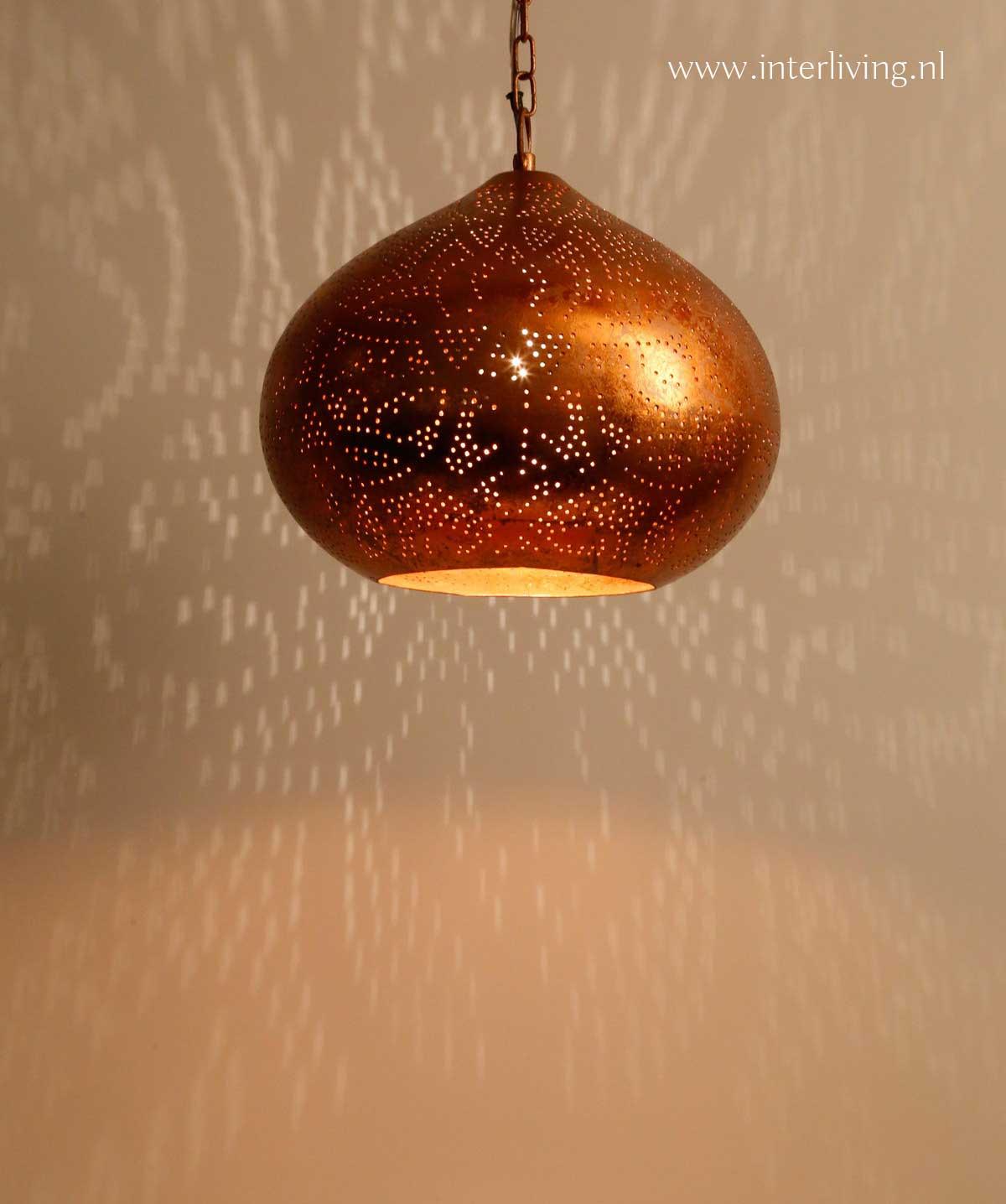 oosterse hanglamp koper