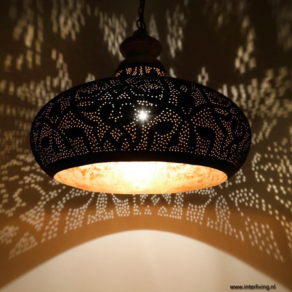 filigrainlamp zwart met goud