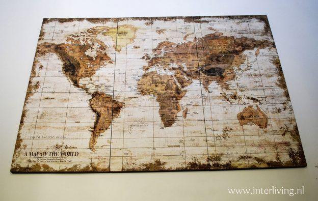 bruine landkaart