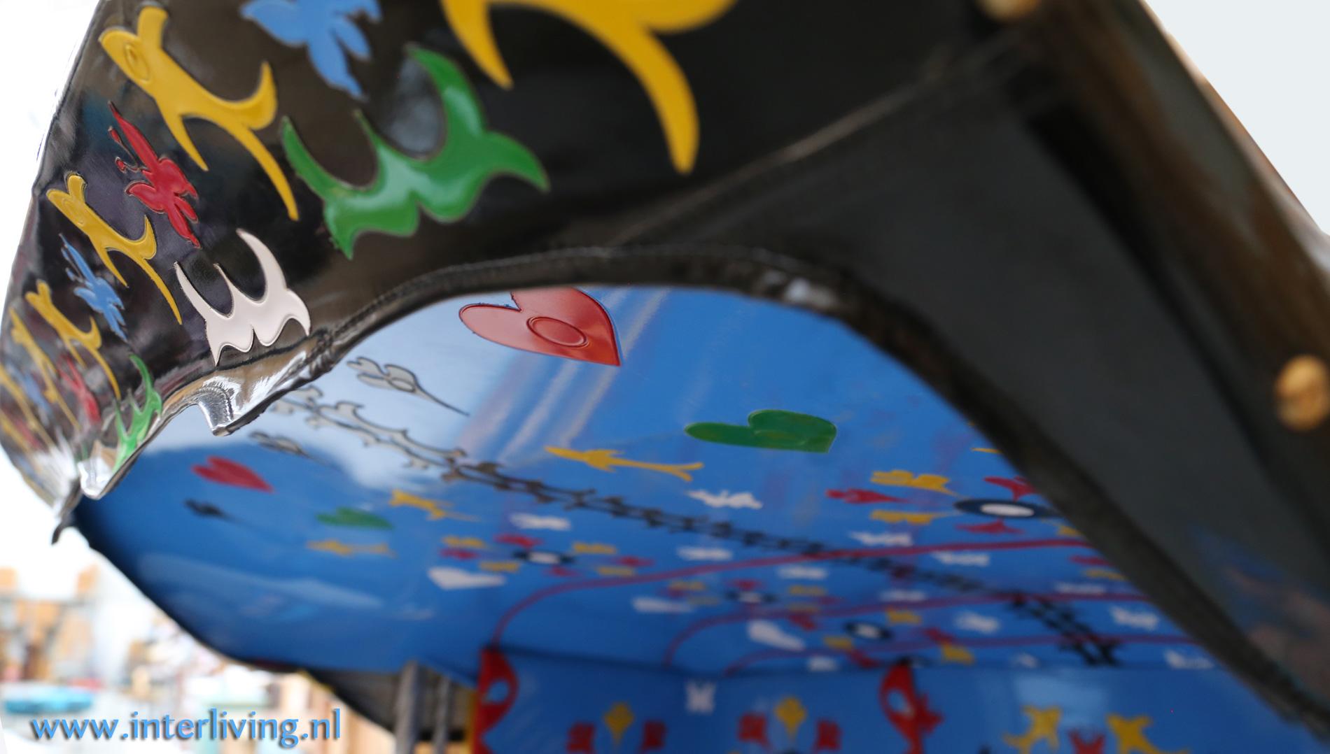 fietstaxi - kleurrijke riksja - eye catcher interieur