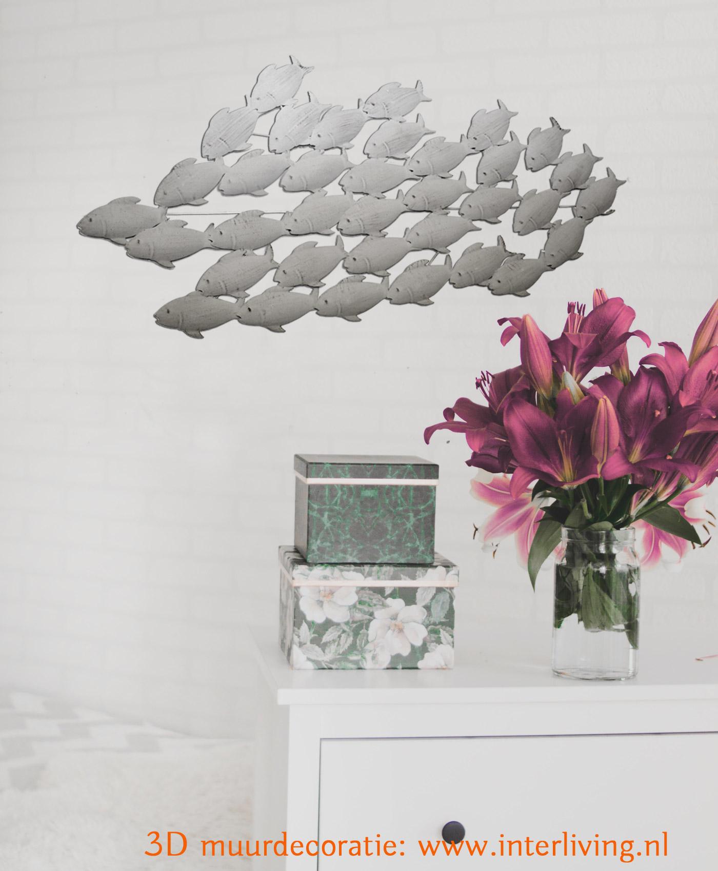Stijlvolle wanddecoratie voor een gezellig entree in de hal - 3D muurstyling van metaal