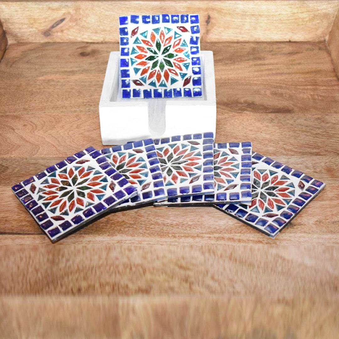 onderzetters - groot formaat voor tafelstyling - landelijke stijl van glasmozaïek