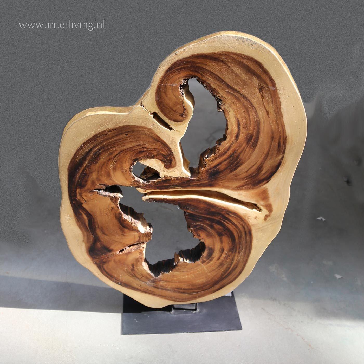 kunst object wortelhout - teakhouten woonaccessoire decoratie