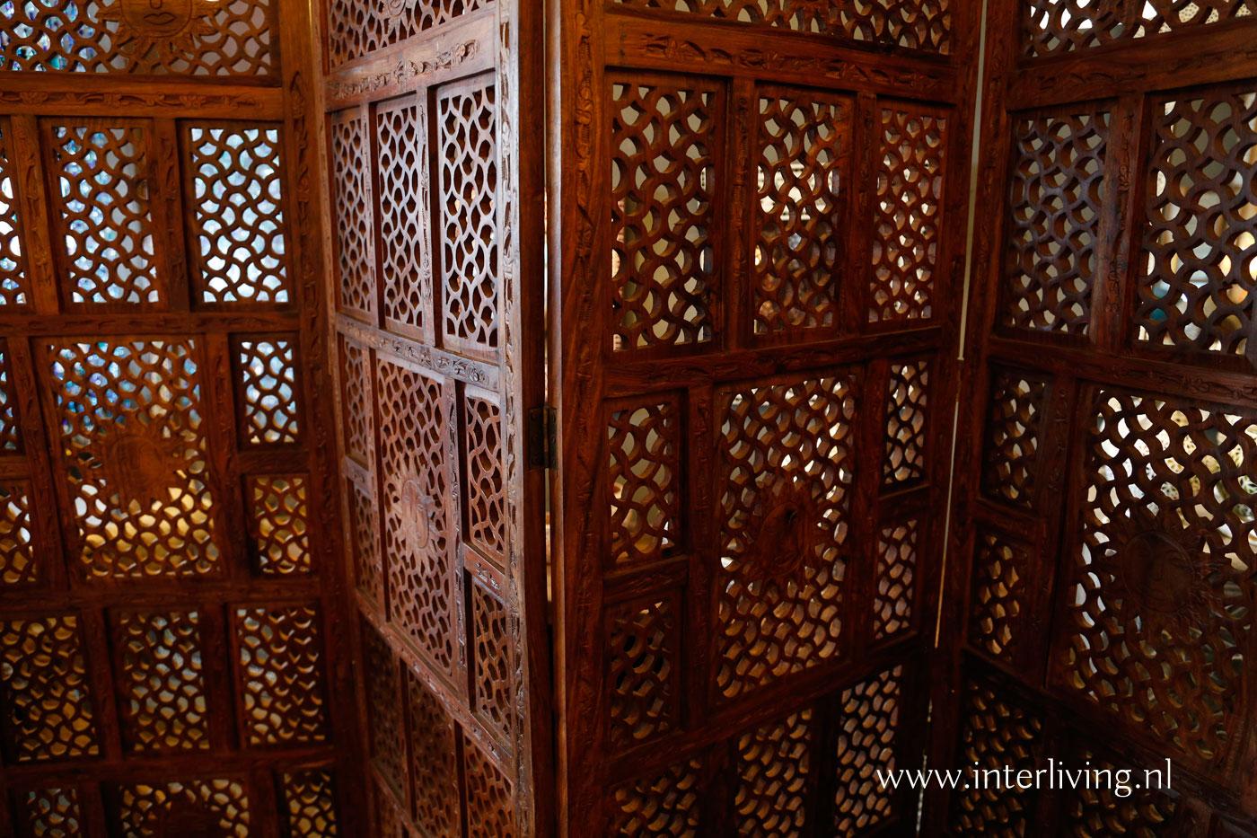 opvouwbaar houten kamerscherm