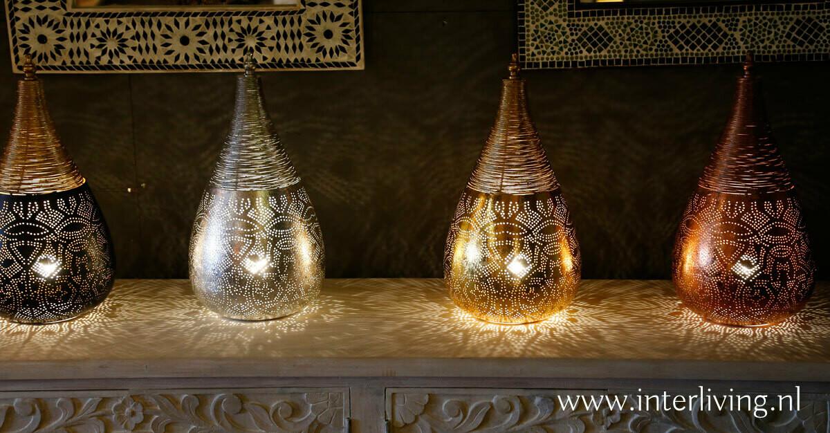 tafellampen - staand filigrain