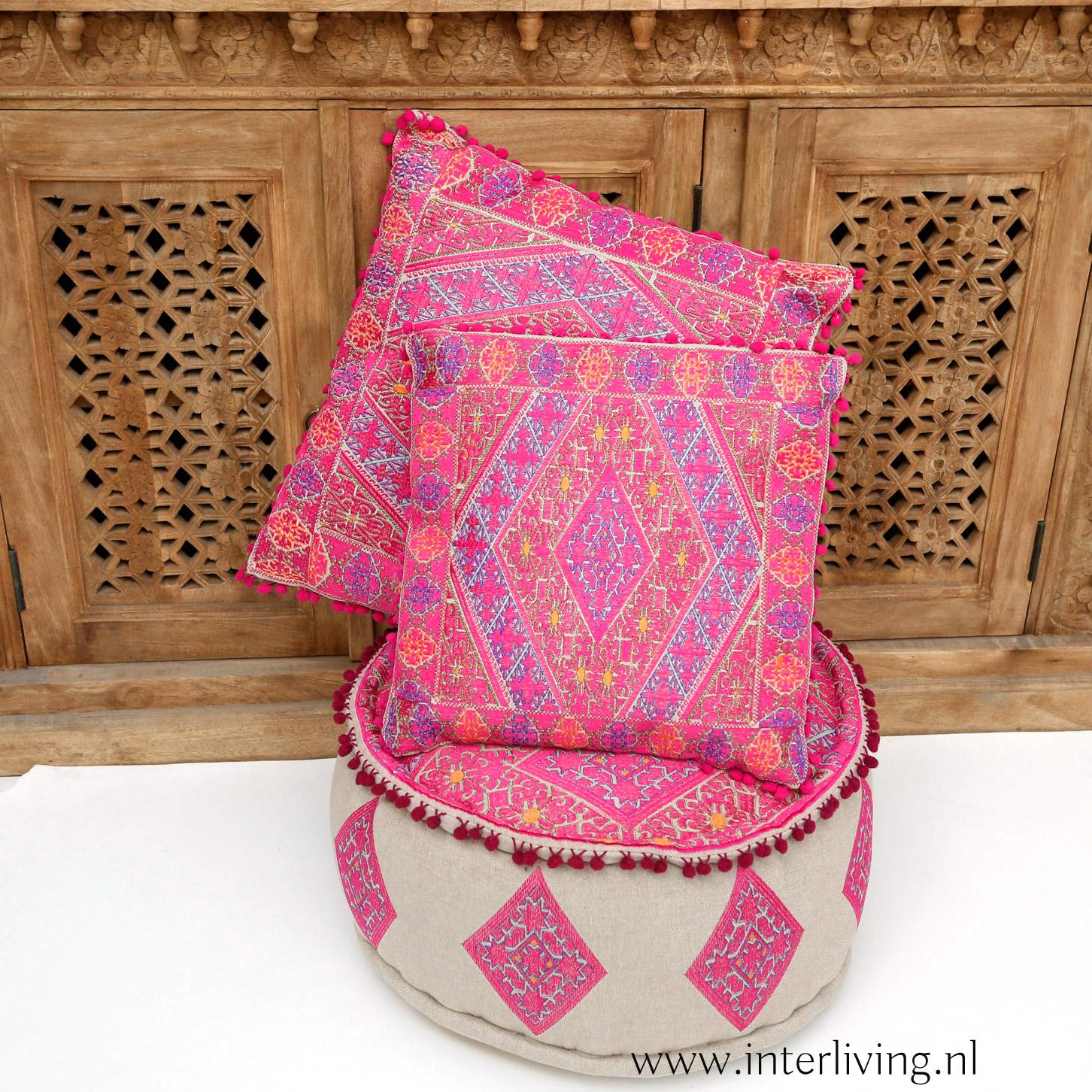 roze marokkaanse kussens