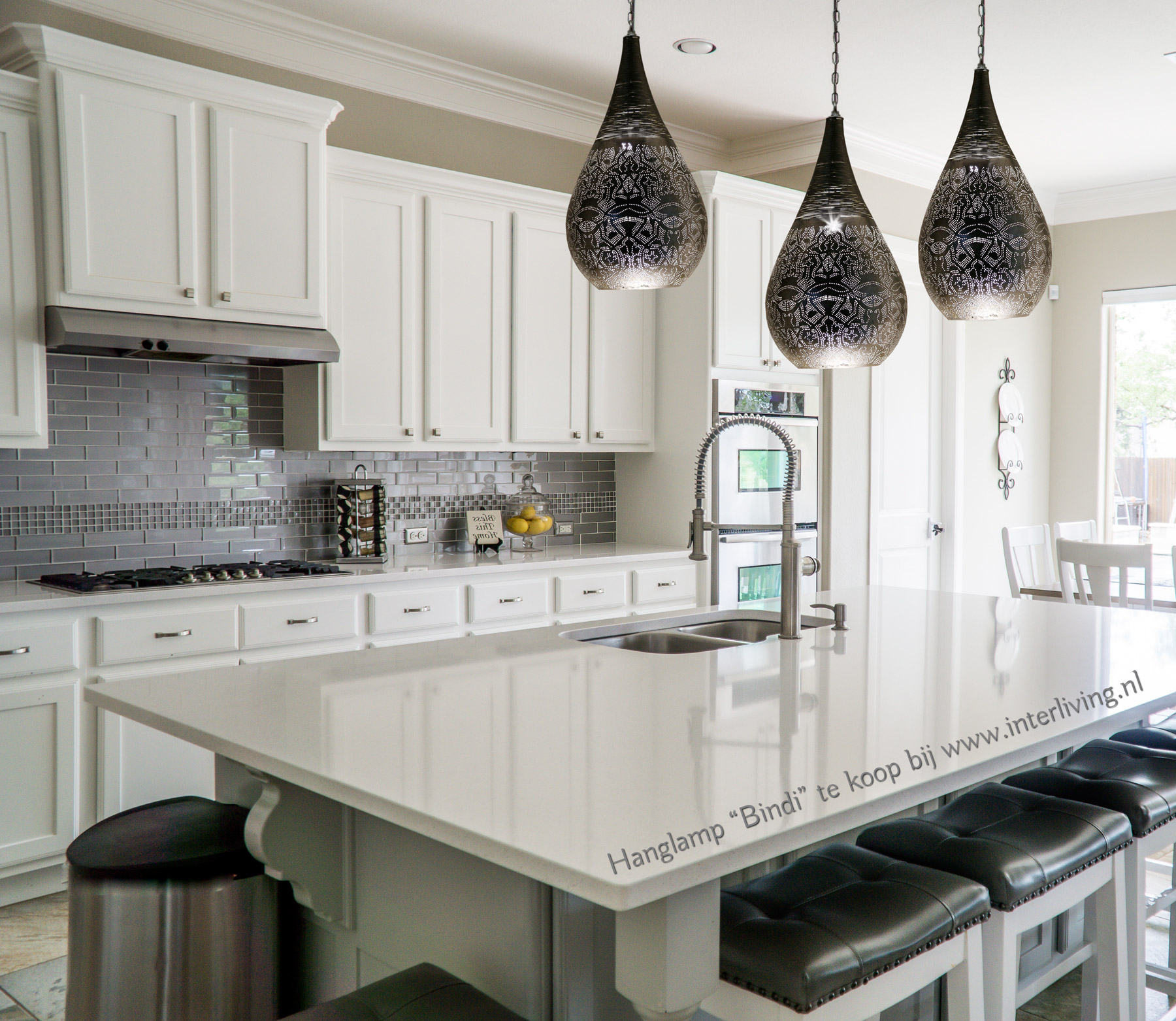 oosterse hanglamp boven je kookeiland - sfeervolle keuken verlichting