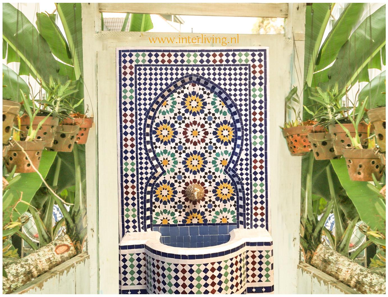 Welp Marokkaanse fontein gemaakt van kleurrijke mozaiektegels - Zellige Fez FT-59