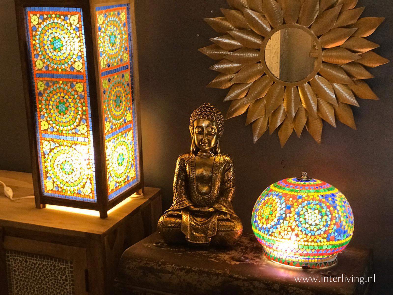 goud styling - boeddha woondeco stijl object - interieur styling tip binnen buiten