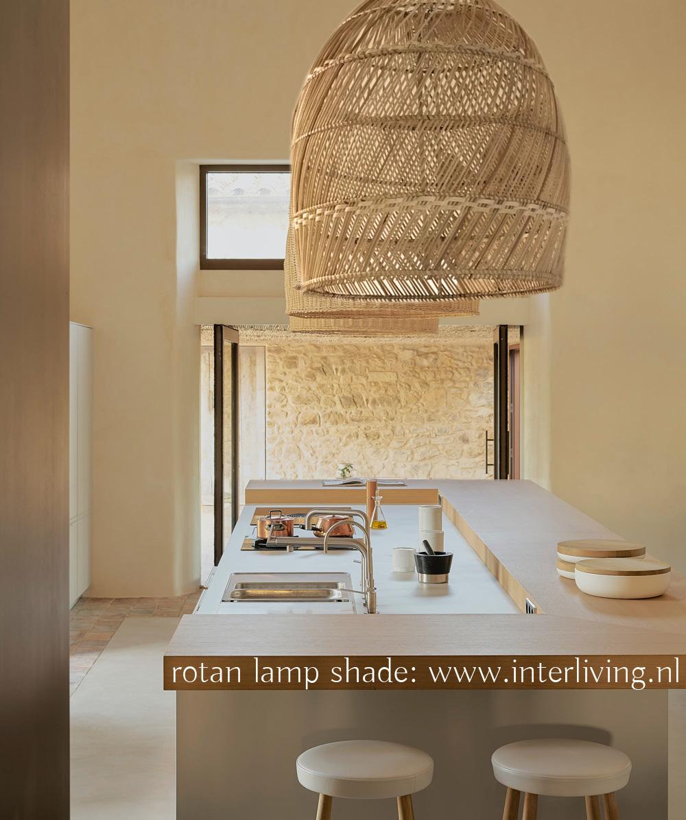 Handgemaakte rotan hanglamp van duurzaam rotanpalm - handgevlochten uit Bali
