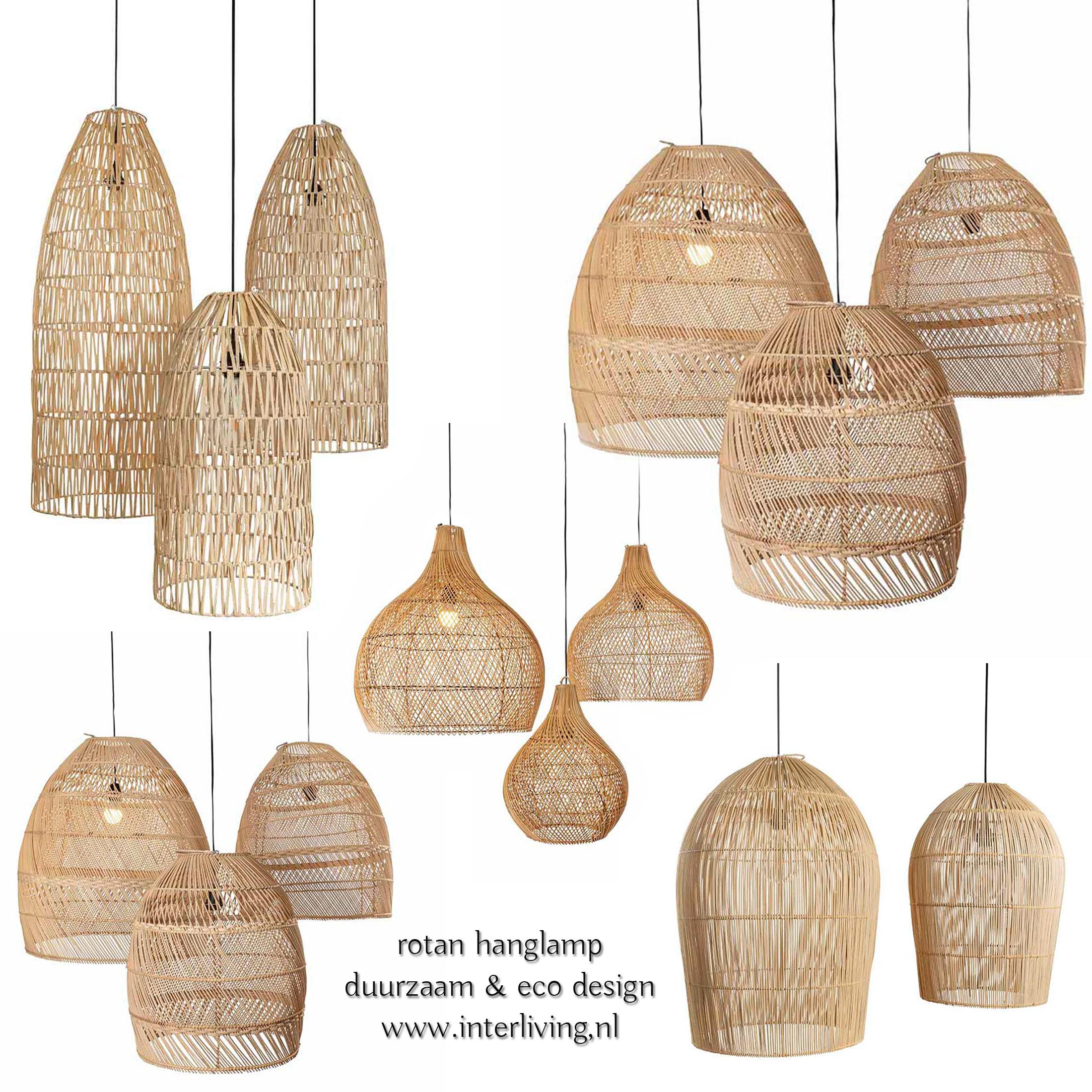 handgemaakte rotan hanglamp - duurzaam eco design verlichting uit Bali - Indonesië