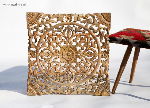 lotus wandpaneel hout