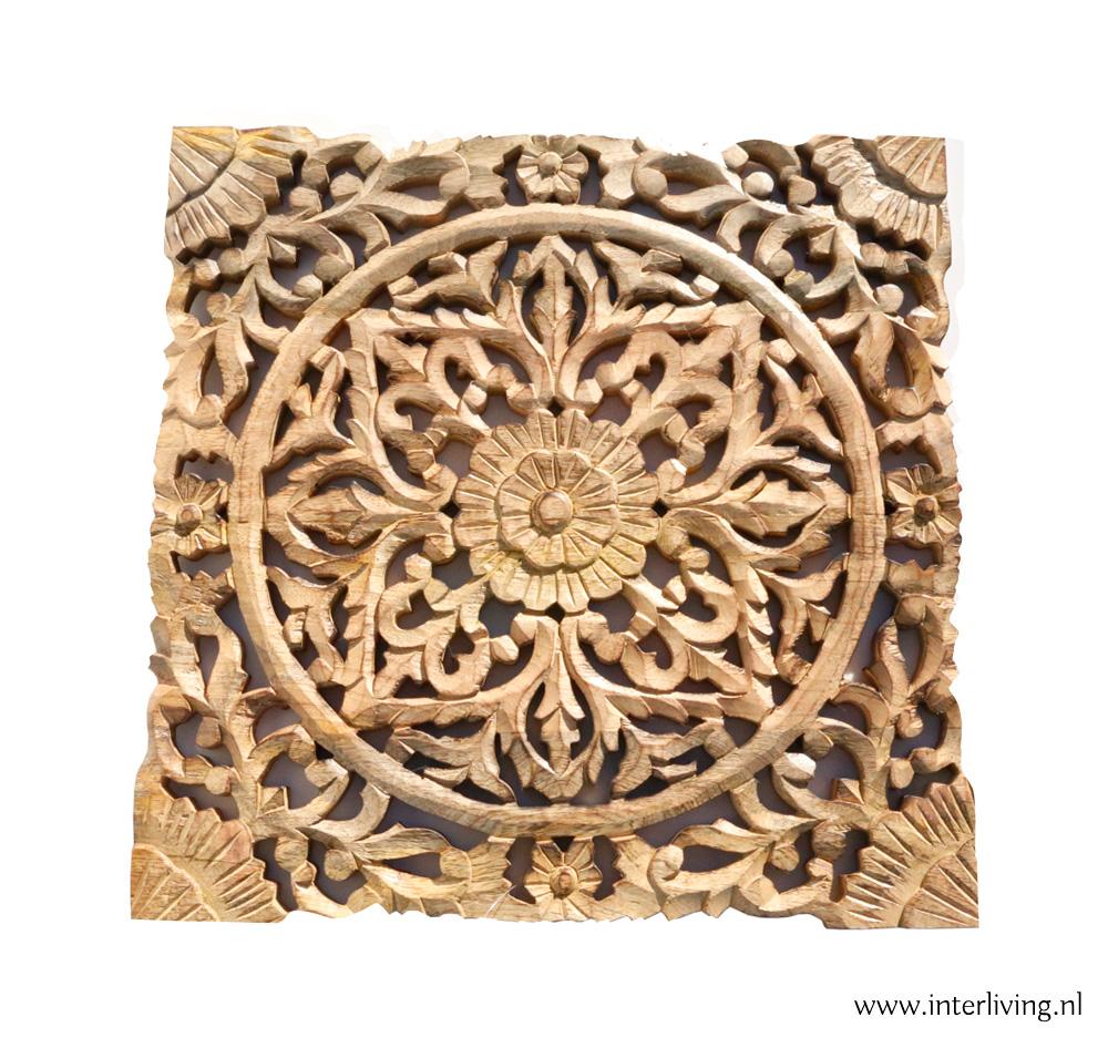 houten wandpaneel mandala