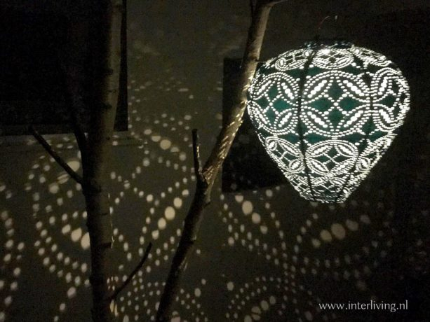 tuinlamp sfeerverlichting effect filigrain