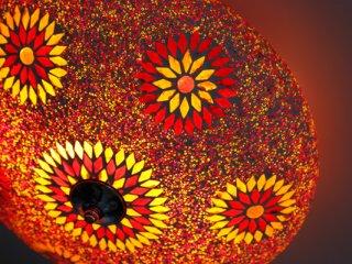 plafondlamp – turks design met kralen